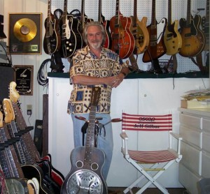 Jeff with his Guitar Collection